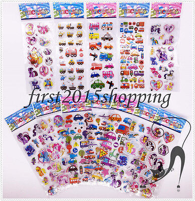 Childrens Stereoscopic Character Fun Stickers 12 Sheets/lot Party gift
