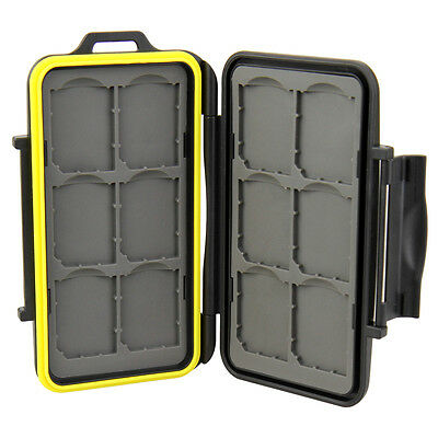 JJC Waterproof Holder Hard Storage Memory Card Case For 12 SD Cards Factory Sale