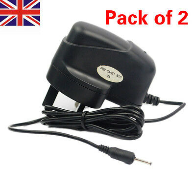 2 x DC 5V 2A 2000mah AC Power Adapter Wall Charger For Android Tablet PC eReader