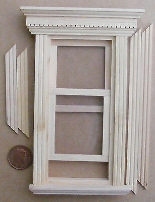 1:12 Scale Georgian Working Wooden Sash Window Frame Tumdee Dolls House 079