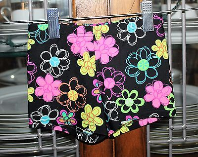 Girl's 4-6 Body Wrappers Neon Floral Skating/Gymnastic/Dance Shorts