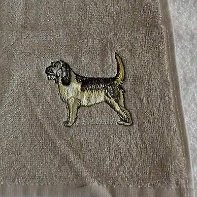 Otterhound Dog Embroidered Face Cloth Flannel, Dog Gift, Dog Towel