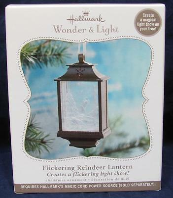 2010 Hallmark Keepsake Ornament Wonder & Light - Flickering Reindeer Lantern NIB