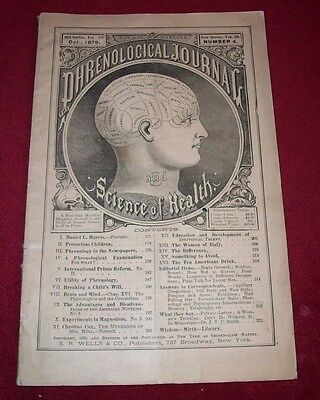 THE PHRENOLOGICAL JOURNAL October 1879 vol 20, 4 Monthly Magazine Science Health