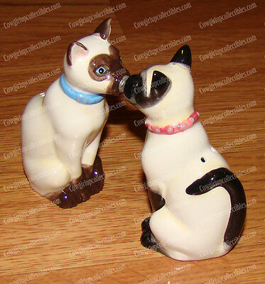 SIAMESE CAT'S Magnetic Salt & Pepper Shakers (MWAH by Westland, 93467)