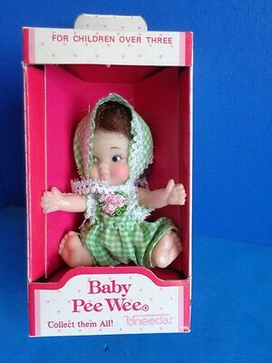 1973 Uneeda Baby Pee Wee Doll In Box