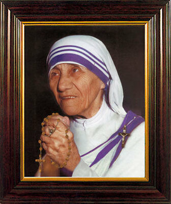 Saint Mother Teresa Of Calcutta Framed Picture Statues And Candles Also Listed