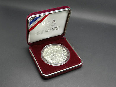 1 Dollar 1988 S PROOF angelaufen Olympiade Kapsel Schachtel USA