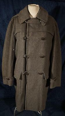 Vintage 1957 Gray PLYMOUTH IMPORTS LODEN Cloth Coat Made in West Germany Sz 40