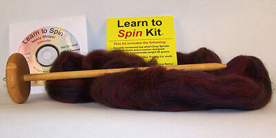 Nancy's Knit Knacks Learn to Spin Kit with instructional Video