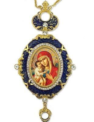 Russian Icon Pendant Madonna and Child Christ Religious Room Decoration Gift NEW