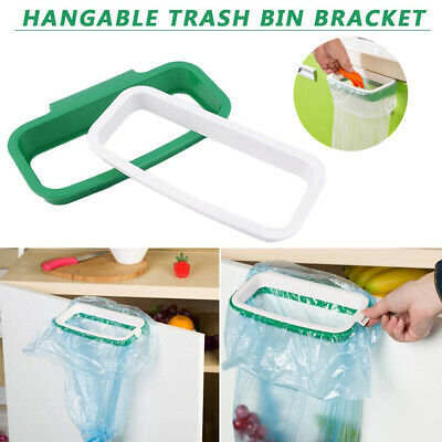 Portable Door Garbage Trash Bag Box Can Rack Plastic Hanging Holder Kitchen Tool