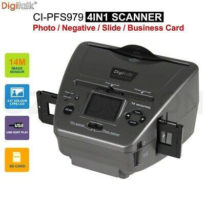 Digitalk 4 in 1 Combo Photo Film Slide Scanner 14MP