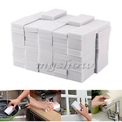 25/50/100PCS Magic Sponge Eraser Cleaning Melamine Multi-functional Foam Cleaner