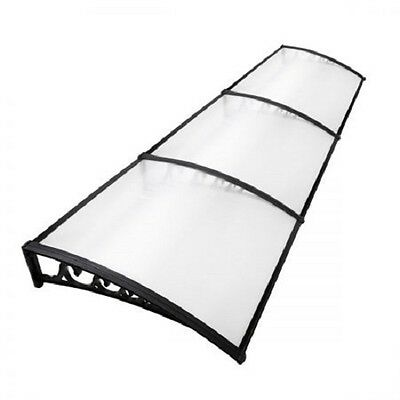 NEW 100x300cm Home or Business DIY Window Door Shade Awning Cover - Transparent