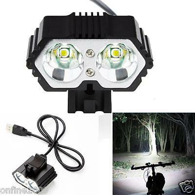 6000 Lm 2 x CREE T6 LED 4 Modes Bicycle Lamp Bike Light Headlight Cycling Torch