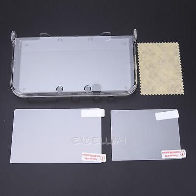 Clear Crystal Plastic Protective Skin Case Cover For Nintendo 3DS LL XL + Film