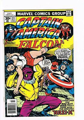 "Captain America # 211 Nazi ""x"" ! grade 8.5 scarce hot book !!"