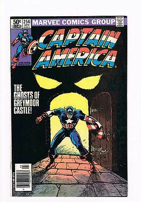 Captain America # 256 The Ghosts of Greymoor Castle ! grade 7.5 scarce book !!