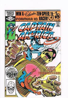 Captain America # 266 Flight From Thunderhead ! grade 8.5 scarce book !!