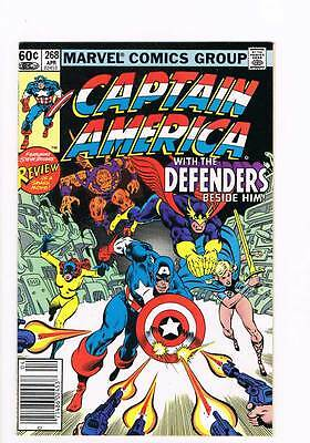 Captain America # 268 Piece on Earth, Goodwill to Man ! grade 9.0 scarce book !!