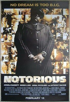 NOTORIOUS (2009) ORIGINAL ONE SHEET POSTER - Jamal Woolard, Anthony Mackie