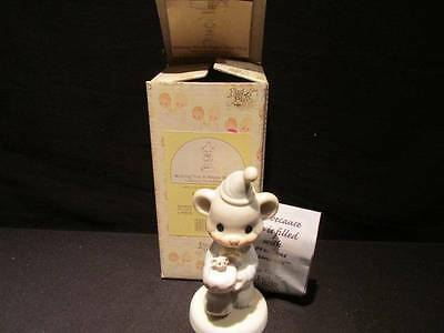 Wishing You Happy Bear Hug Enesco 1994 Precious Moments Birthday Figure Retired