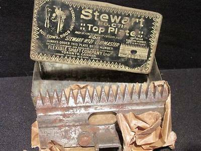 Stewart C71M Top plated #21 Clipmaster blade dog cow horse & original Metal box