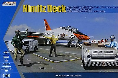 KINETIC 48057 Nimitz Deck + T-45 + MD-2 + Fire Engine + Electric Tractor in 1:48