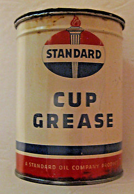 Rare Vintage 1946 Standard Oil Cup Grease Oil Advertising Oil Can ~ L@@k !!