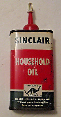 RARE VINTAGE SINCLAIR OIL Co. HOUSEHOLD OIL ADVERTISING OIL CAN