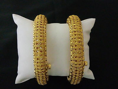 Indian Fashion Jewelry Bangle bollywood ethnic gold plated traditional kadas set
