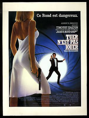 JAMES BOND 007 TUER N'EST PAS JOUER / THE LIVING DAYLIGHTS  synopsis ill. 1987