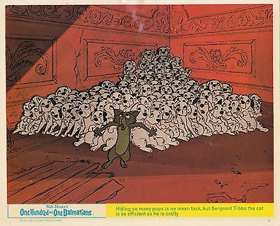 101 One Hundred and One Dalmatians ('61) Original UK 10x8 Lobby Card (#6) Disney