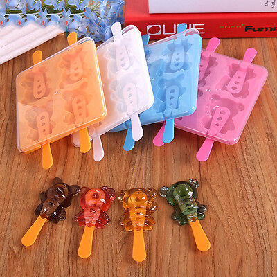 Kitchen Popsicle Maker Lolly Mould Tray Strawberry Animal Letter Ice Cream Mould