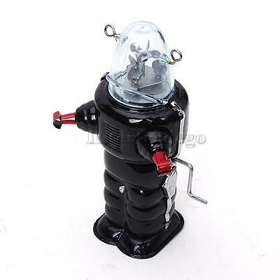 Wind Up Black Planet Robot Metal Tin Toys Adult Collectable Gift