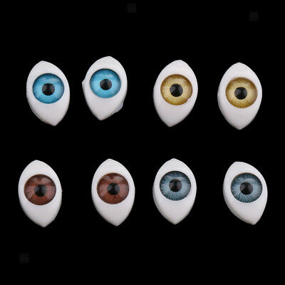 8pcs Plastic Oval Hollow Plastic Eyes For Doll Mask DIY 6mm