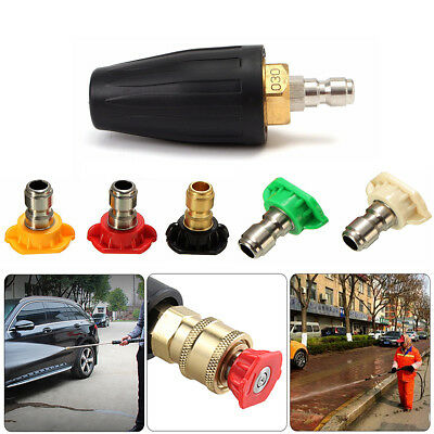High Pressure Washer Rotating Turbo Nozzle Spray Nozzles Tip 1/4'' Quick Connect