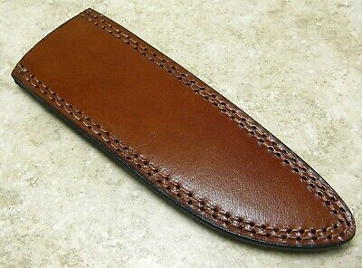 """Leather Sheath for Fixed Blade Traditional Style Knife up to 7 3/4"""" blade"""