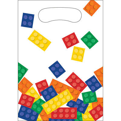 Legos BLOCK PARTY TREAT Loot BAGS Lego Birthday Party Supplies Favors