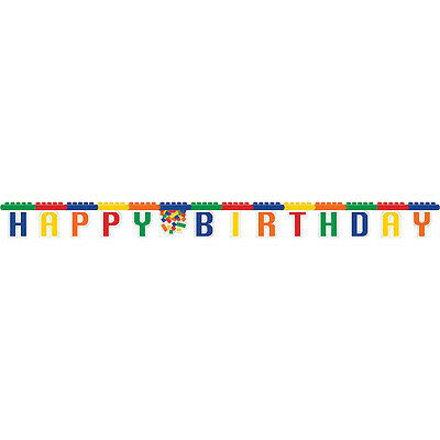 Legos BLOCK PARTY Jointed BANNER Birthday Party Supplies Decoration
