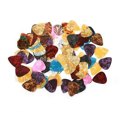 100pcs Guitar Acoustic Electric Guitar Pick Plectrum Assorted thickness A