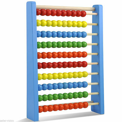 Large Wooden Bead Traditional Abacus Maths Educational Kids Child Toys Fun