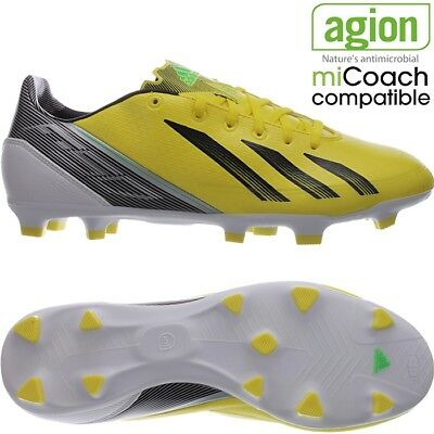 a447fb88d88 Adidas F30 TRX FG men s soccer cleats yellow black whitee FG-studs NEW