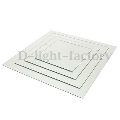 3mm Clear Acrylic Perspex Sheet Plastic Material Panel Mirror Cut to Size Silver