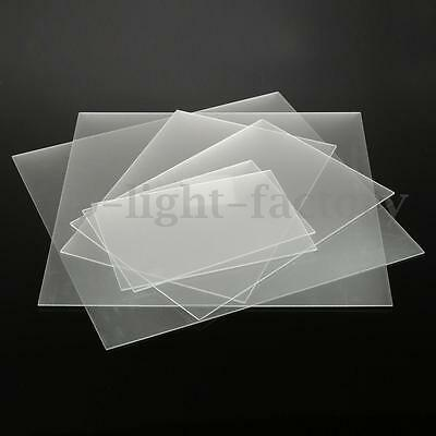 Frosted Clear Acrylic Perspex Sheet Cut to Size Plastic Panel For Matt Satin