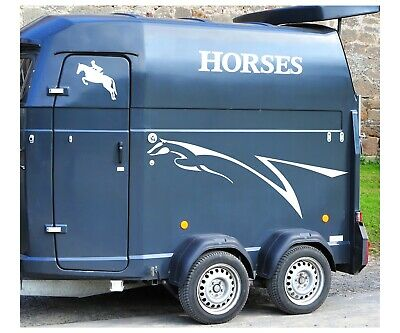 Horse pony box, trailer, transport, decal sticker set #1 self-adhesive - WS1028