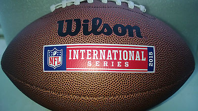 NFL AMERICAN FOOTBALL International Series Wembley Official Size Ball & Free Pin