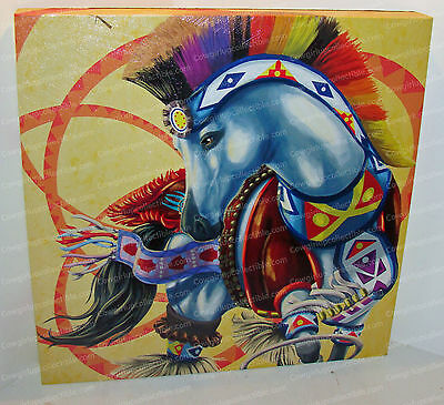 HOOP DANCER (QH) Canvas Wall Art 15 X 15 (Horse of a Different Color, 20556)