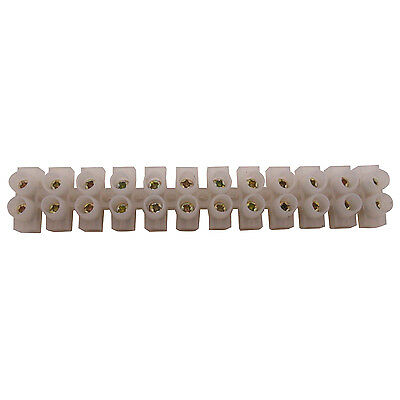 1 x 3A 12-Way Wire Plastic Connector Double Rows Fixed Screw Terminal Blocks